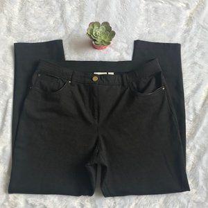 Chico's So Slimming 5-Pocket Ponte Pant in GrayEUC